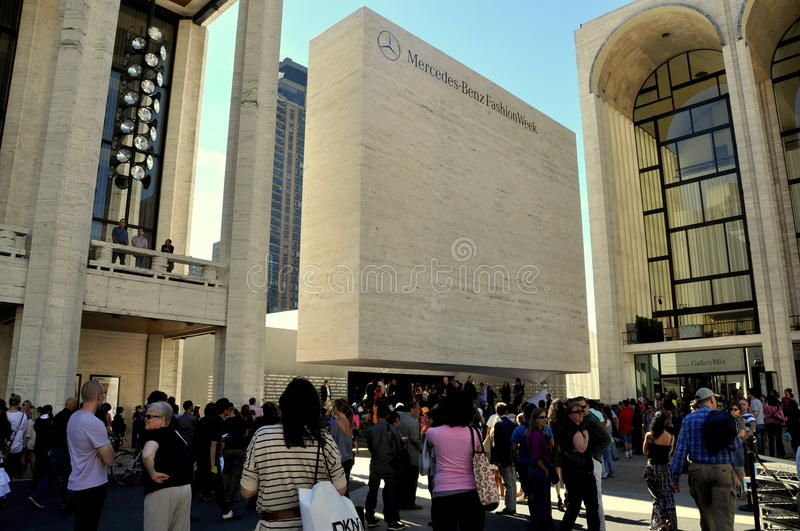 NYC: Fashion Week at Lincoln Center royalty free stock photo