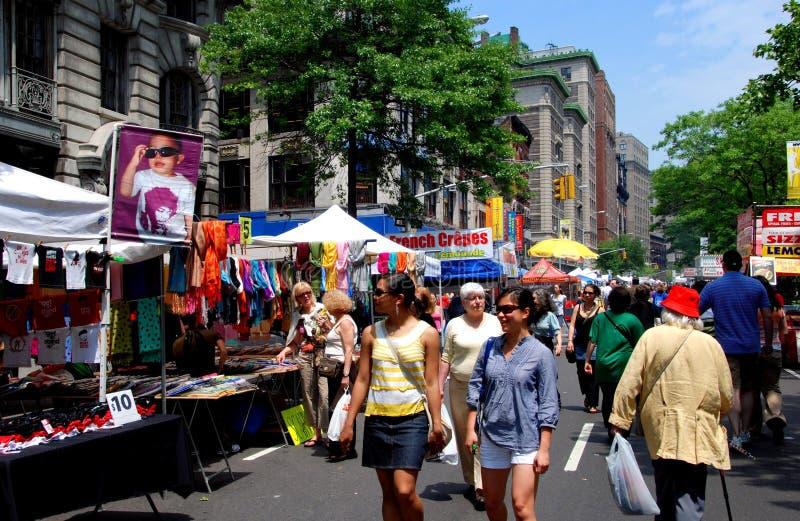 NYC : Festival supérieur de rue de côté Ouest photo libre de droits