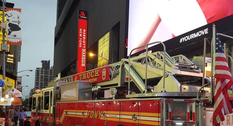NYC fire fighter truck. royalty free stock photography