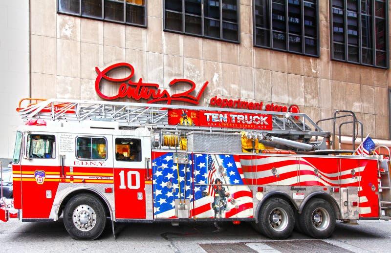 NYC firetruck FDNY royalty free stock photos