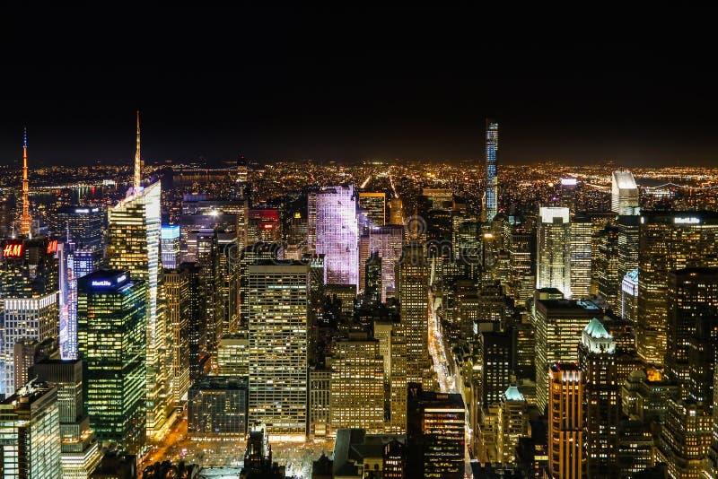 NYC från Empire State Building royaltyfria foton