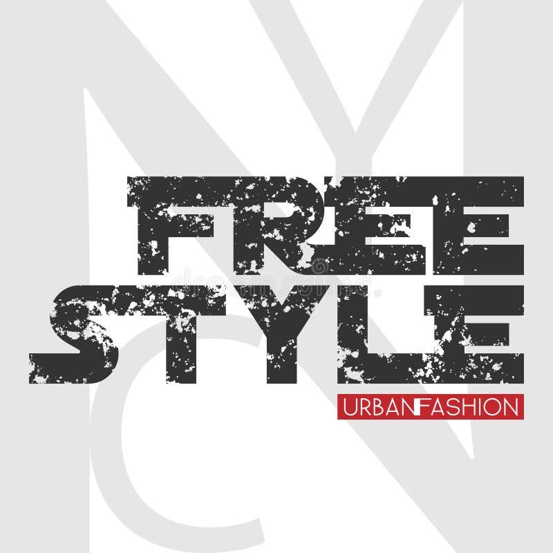 NYC frigör stildesign vektor illustrationer