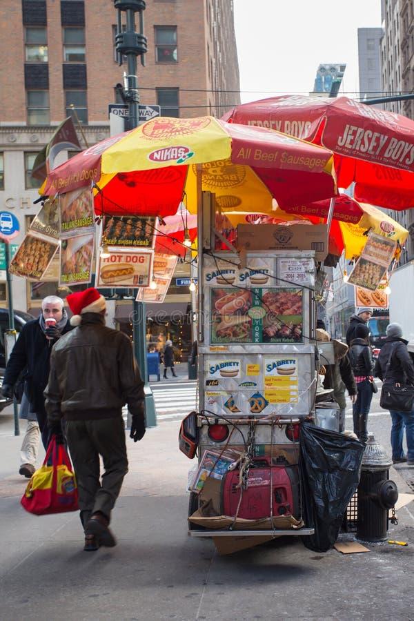 NYC fury Karmowy sprzedawca obraz royalty free