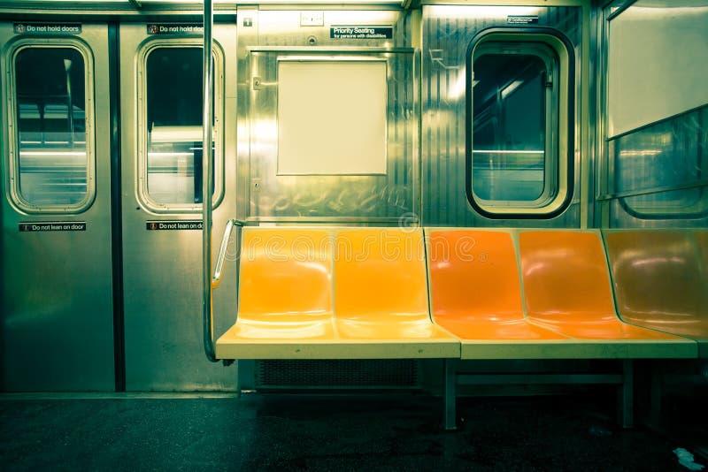 NYC-gångtunnel royaltyfri bild