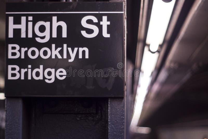 NYC-gångtunnel royaltyfri foto