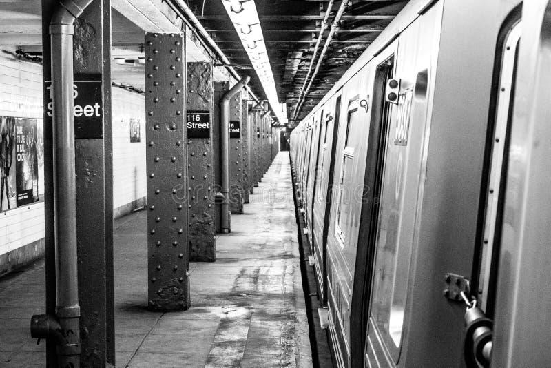 NYC-gångtunnel arkivbild