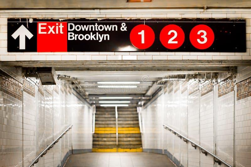 NYC-gångtunnelen posterar arkivfoton