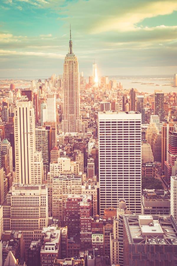 NYC Gestemde Horizon stock afbeeldingen