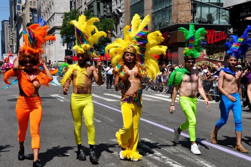 NYC: 2014 glade Pride Parade arkivfoto
