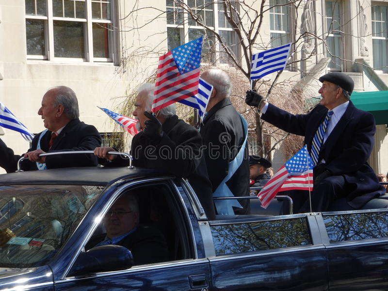 NYC Greek Independence Day Parade 2016 Part 2 29. The Federation of Hellenic Societies of Greater New York organizes the annual Greek Independence Day Parade in royalty free stock images