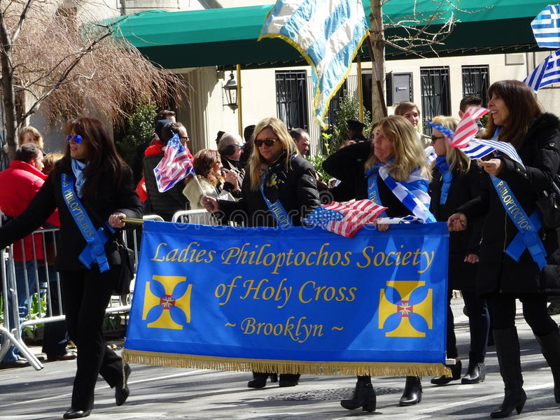 NYC Greek Independence Day Parade 2016 Part 2 33. The Federation of Hellenic Societies of Greater New York organizes the annual Greek Independence Day Parade in royalty free stock photography