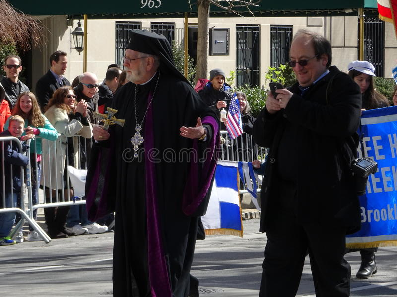 NYC Greek Independence Day Parade 2016 Part 2 55. The Federation of Hellenic Societies of Greater New York organizes the annual Greek Independence Day Parade in royalty free stock images