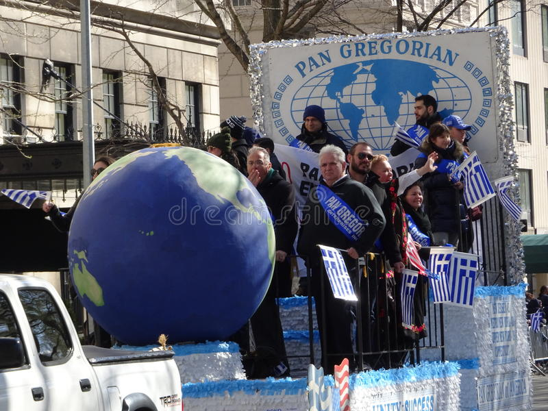 NYC Greek Independence Day Parade 2016 Part 5 59. The Federation of Hellenic Societies of Greater New York organizes the annual Greek Independence Day Parade in royalty free stock photos