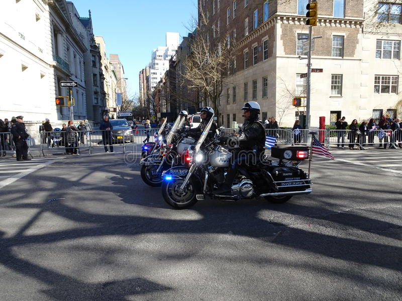 NYC Greek Independence Day Parade 2016 Part 6 33. The Federation of Hellenic Societies of Greater New York organizes the annual Greek Independence Day Parade in stock image