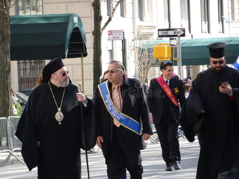 NYC Greek Independence Day Parade 2016 Part 6 37. The Federation of Hellenic Societies of Greater New York organizes the annual Greek Independence Day Parade in royalty free stock images