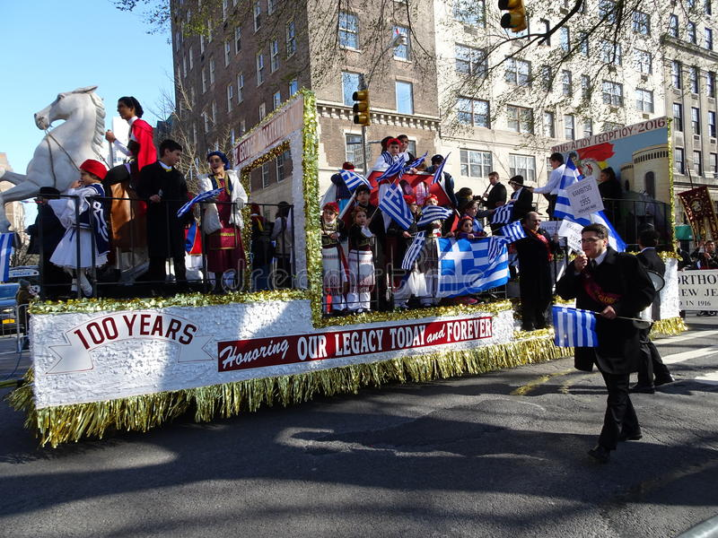 NYC Greek Independence Day Parade 2016 Part 6 42. The Federation of Hellenic Societies of Greater New York organizes the annual Greek Independence Day Parade in royalty free stock photography