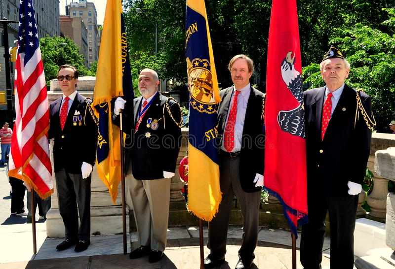 NYC: Guardia de color en las ceremonias del Memorial Day fotografía de archivo libre de regalías