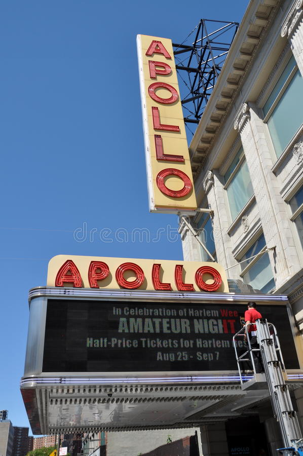 NYC: Harlem's Famed Apollo Theatre royalty free stock images