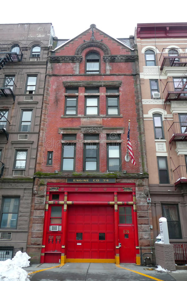 NYC: historic fire station stock image