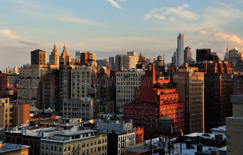 NYC: Hogere het Westen Zij en Uit het stadscentrum Horizon stock foto's