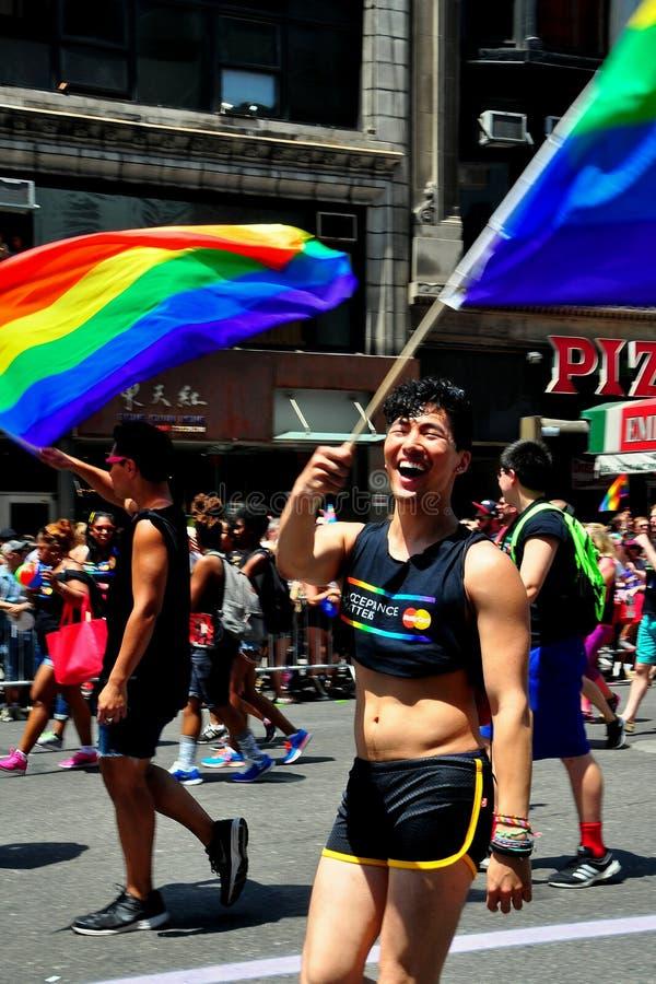 NYC: 2014 Homosexuelles Pride Parade stockfotos