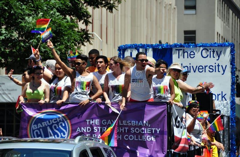 NYC: 2014 homossexual Pride Parade fotografia de stock royalty free