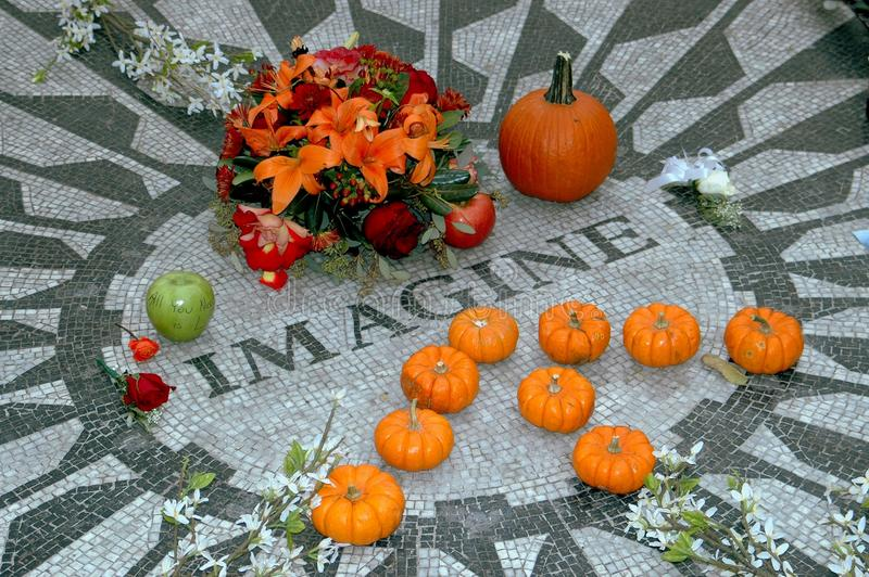Download NYC: Imagine Mosaic In Central Park Editorial Stock Image - Image: 14561809