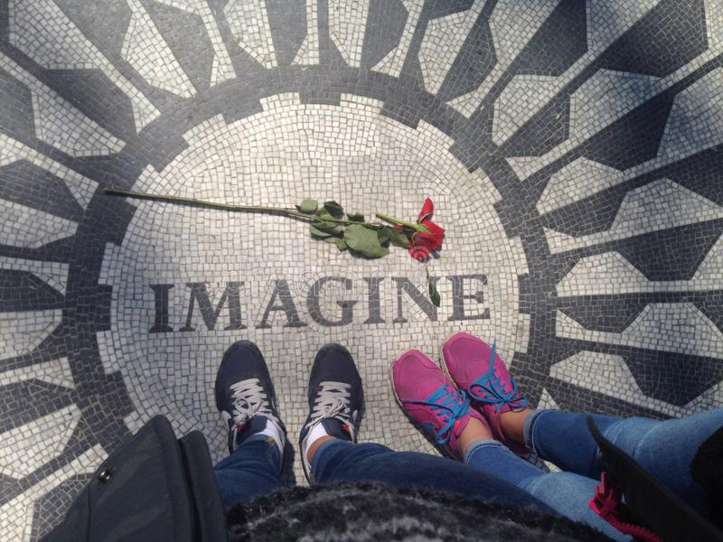 NYC imaginent et se sont levés photos stock