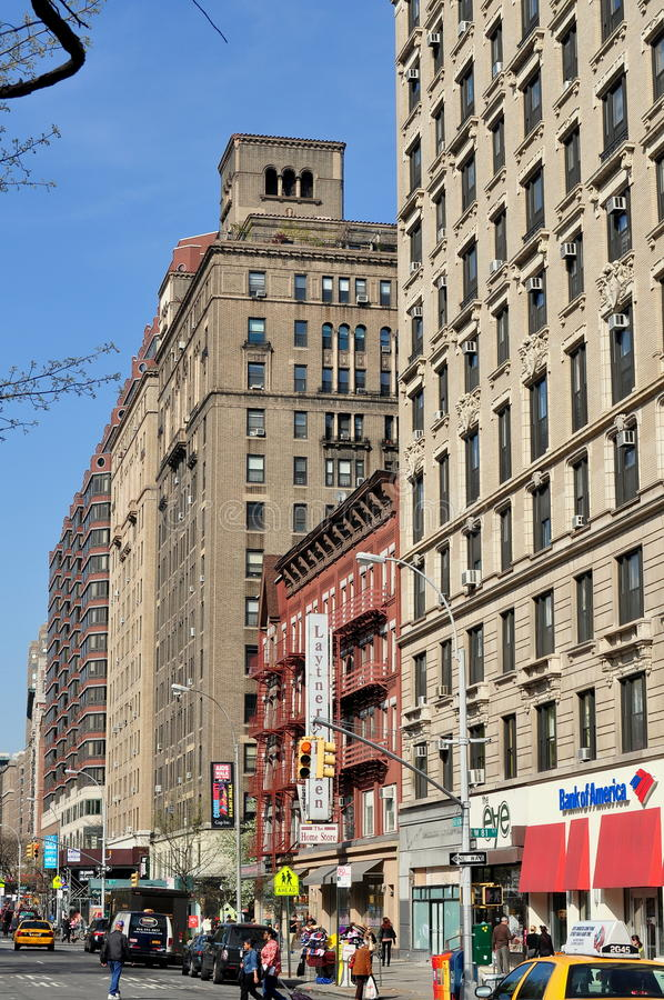 NYC : Immeubles sur Broadway supérieur photo libre de droits