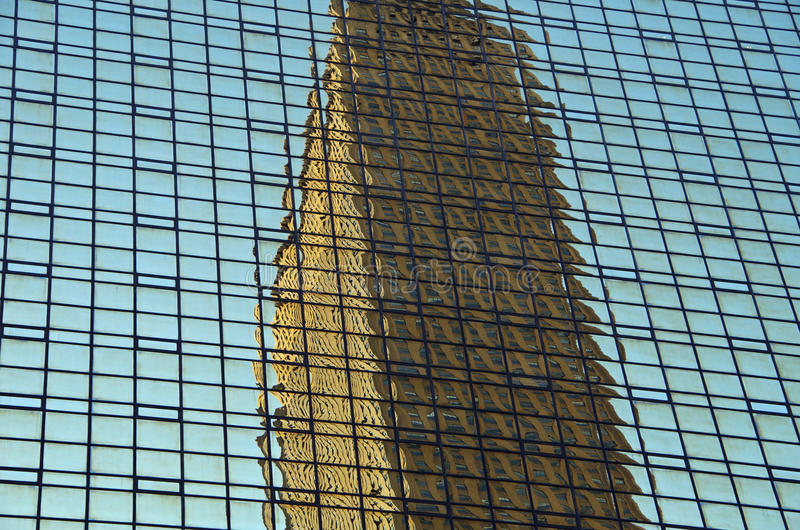 NYC intersecting high-rise buildings architectural reflections. Midtown Manhattan NYC intersecting high-rise buildings architectural background reflections stock photos