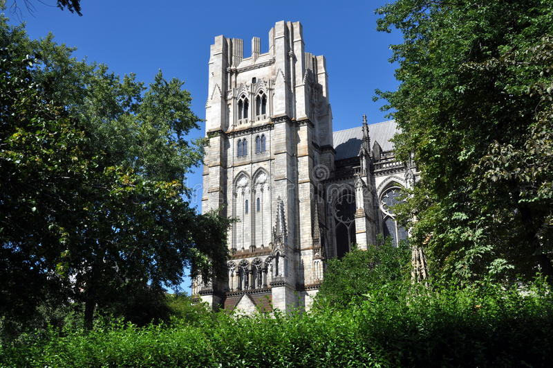 NYC: Kathedraal van St. John Goddelijk royalty-vrije stock foto's