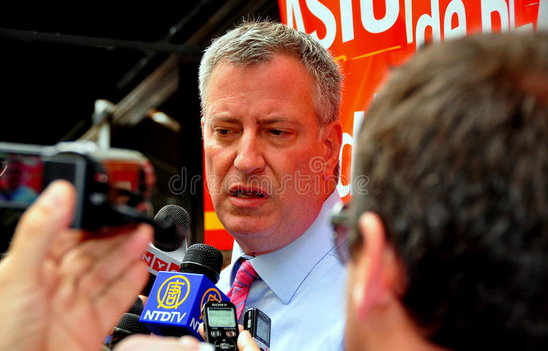 Download NYC: Leading Mayoral Candidate Bill DeBlasio Editorial Image - Image: 33512385