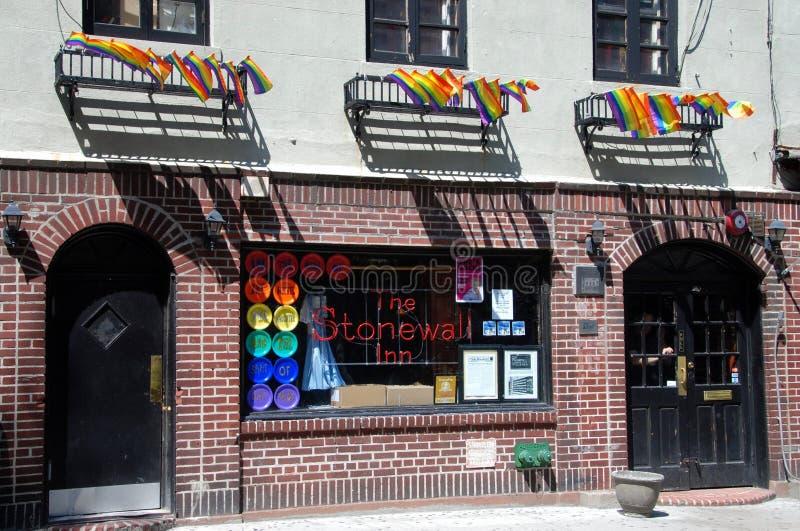 NYC: Legendário Stonewall a pensão fotos de stock