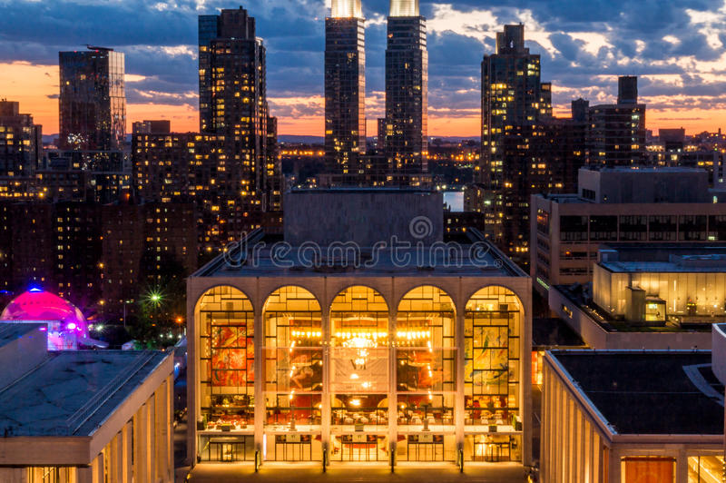NYC Lincoln Center Metropolitan Opera House royalty free stock photography