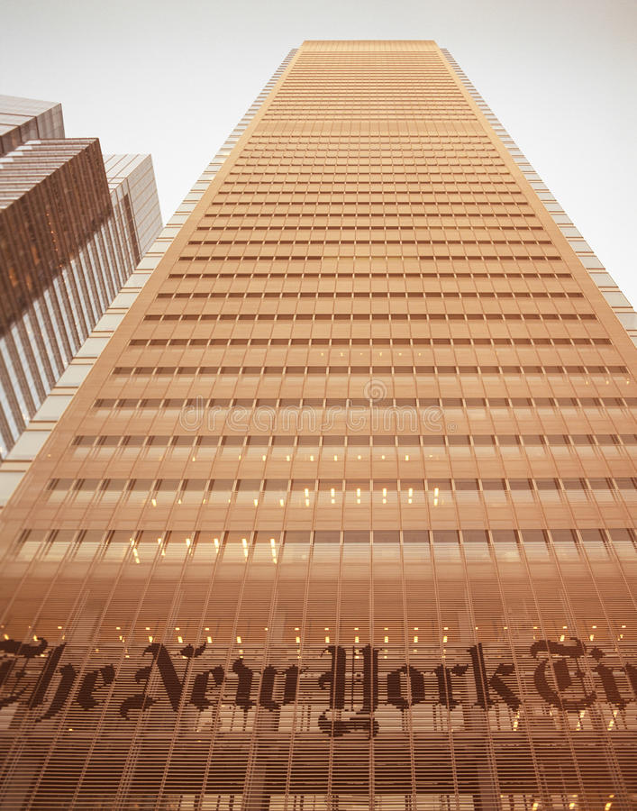 Download NYC - Look Up. The New York Times Building. Editorial Stock Image - Image of built, industry: 42826679