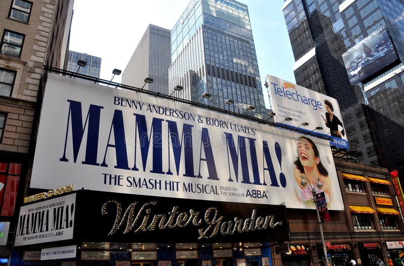 NYC: Mamma Mia Musical at Winter Garden Theatre royalty free stock photos