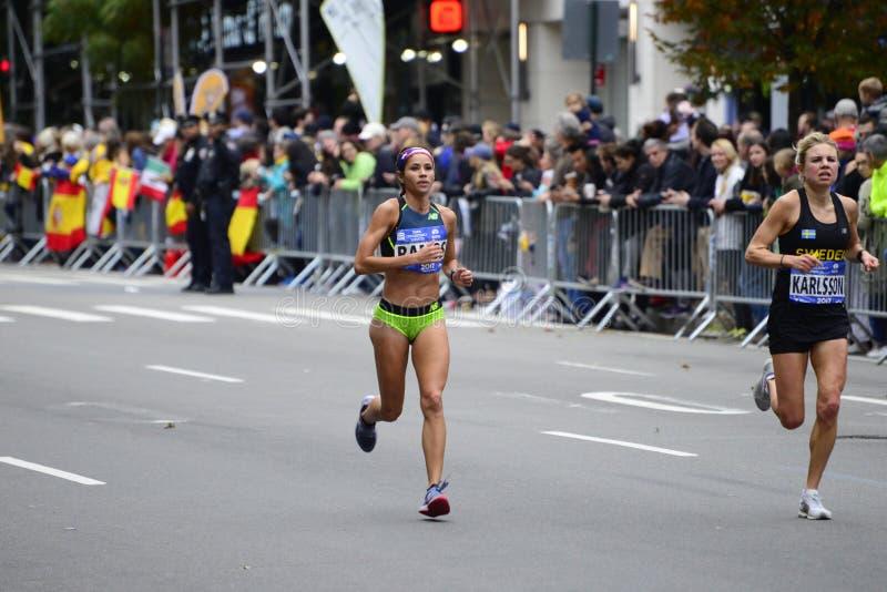2017 NYC-Marathon - Auslese-Frauen stockfotografie