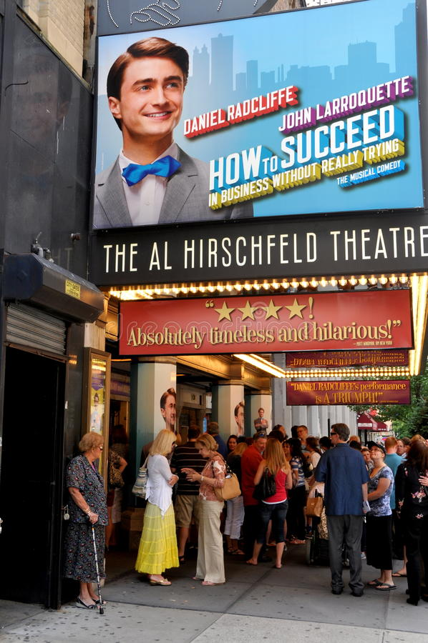 NYC: Martin-Kesselbroadway-Theater lizenzfreies stockfoto