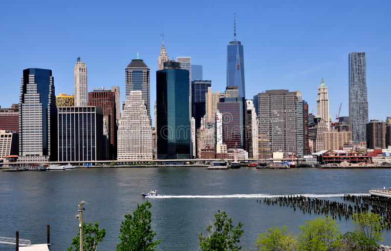NYC: Mening van Lower Manhattan stock foto