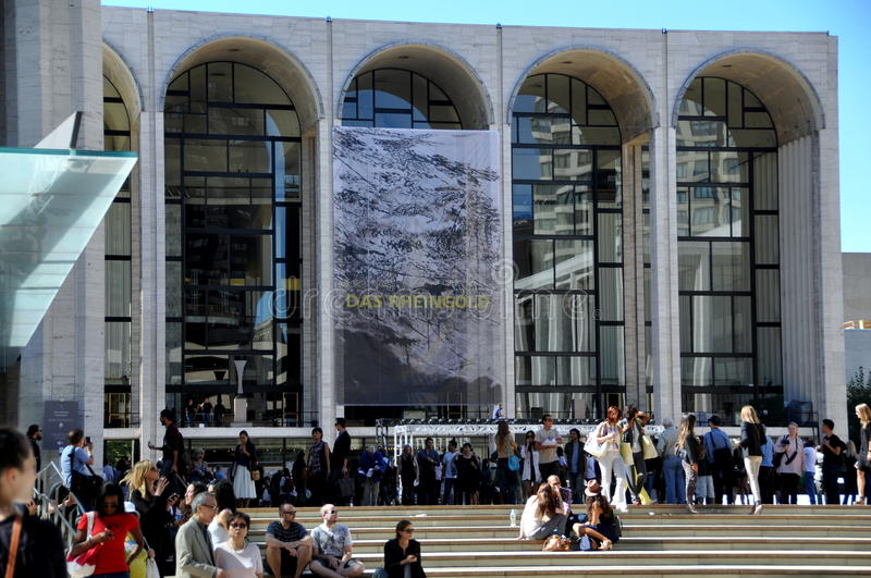 NYC: Met Opera House & Fashion Week royalty free stock image
