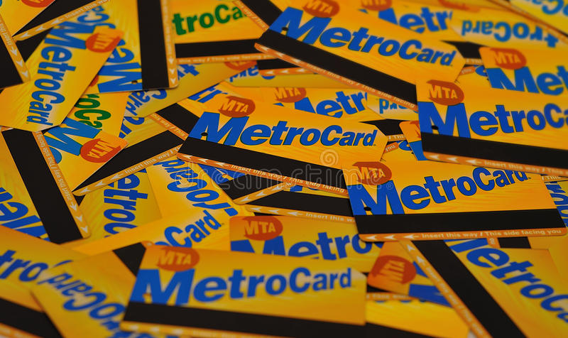 Download NYC metrocards editorial photography. Image of exploration - 18889757