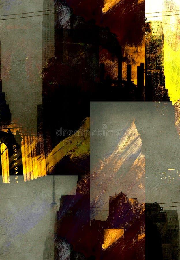 NYC miasta abstrakcja royalty ilustracja