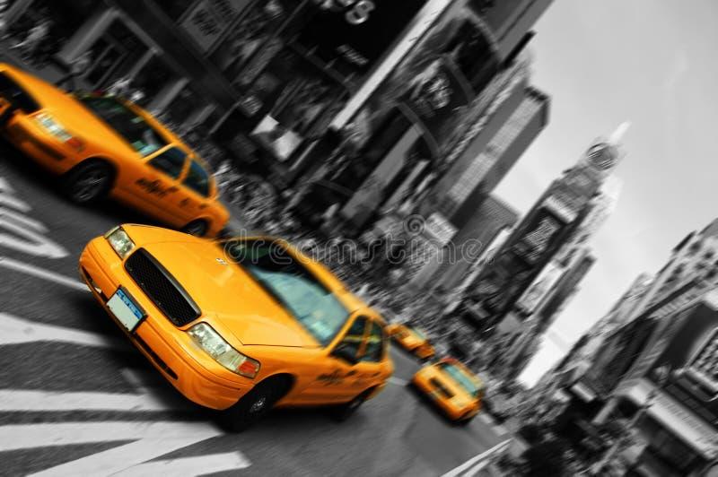 Nyc, mouvement d'orientation de tache floue, Times Square images stock