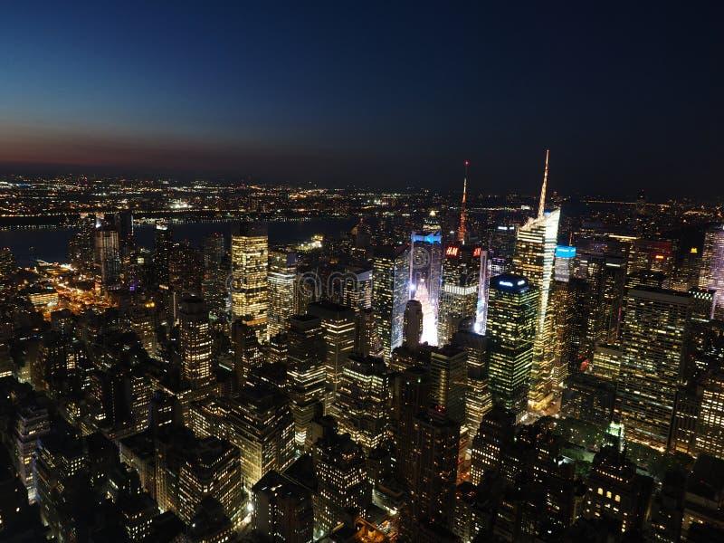 NYC nell'ora blu immagini stock