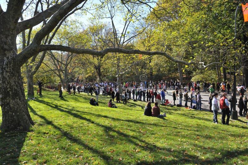 Download NYC Nov 7: Crowds Watch 2010 NYC Marathon Editorial Stock Image - Image: 16866774