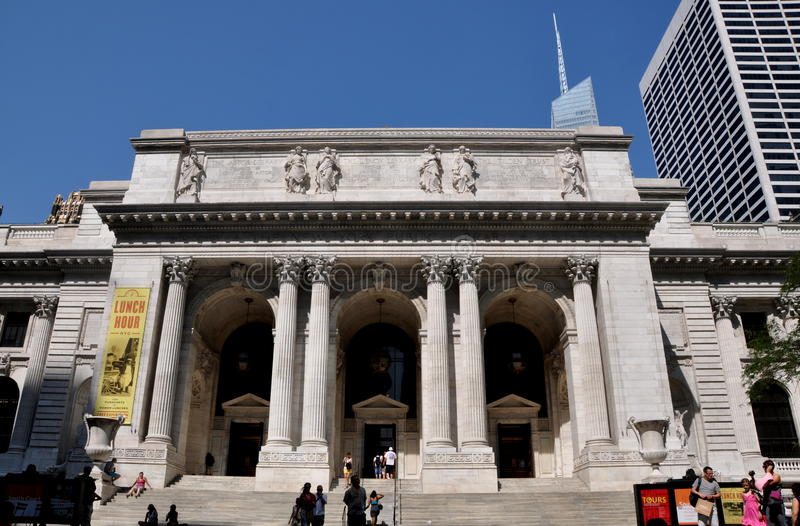 Download NYC: NYC Public Library editorial photography. Image of columns - 26414327