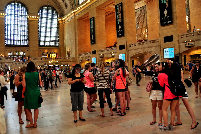 NYC:  O grande salão no terminal central grande foto de stock royalty free