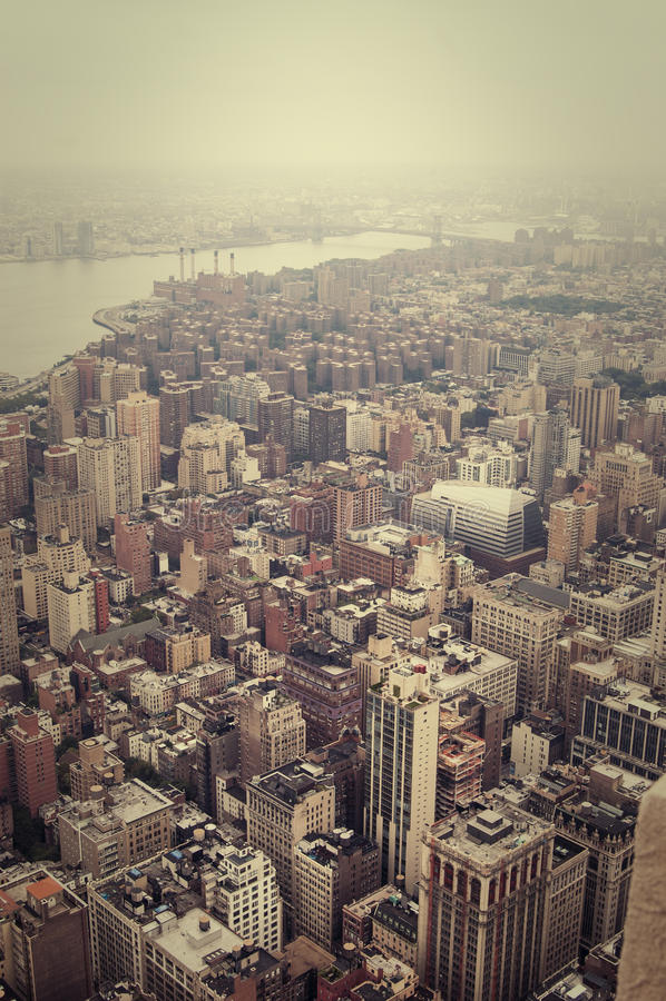 NYC od above obrazy stock