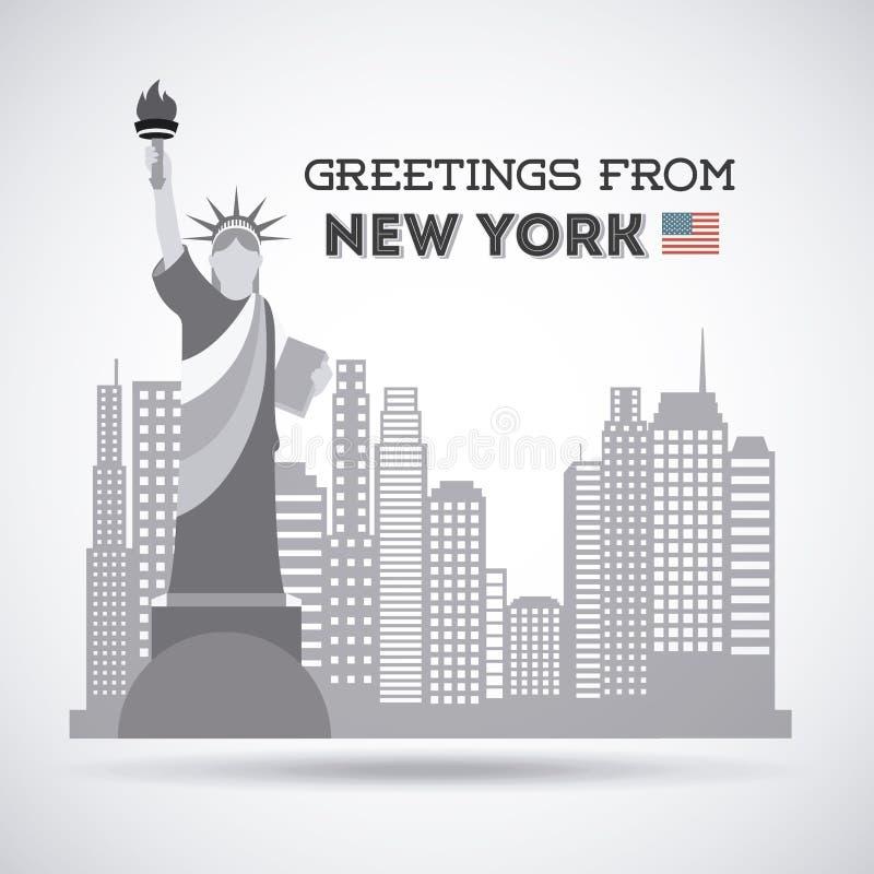 NYC-ontwerp stock illustratie