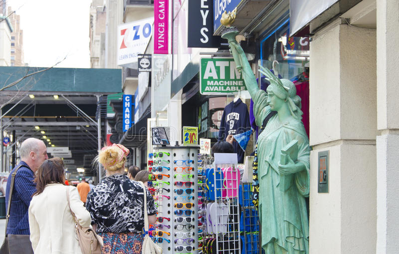 NYC pamiątkarski sklep obrazy stock